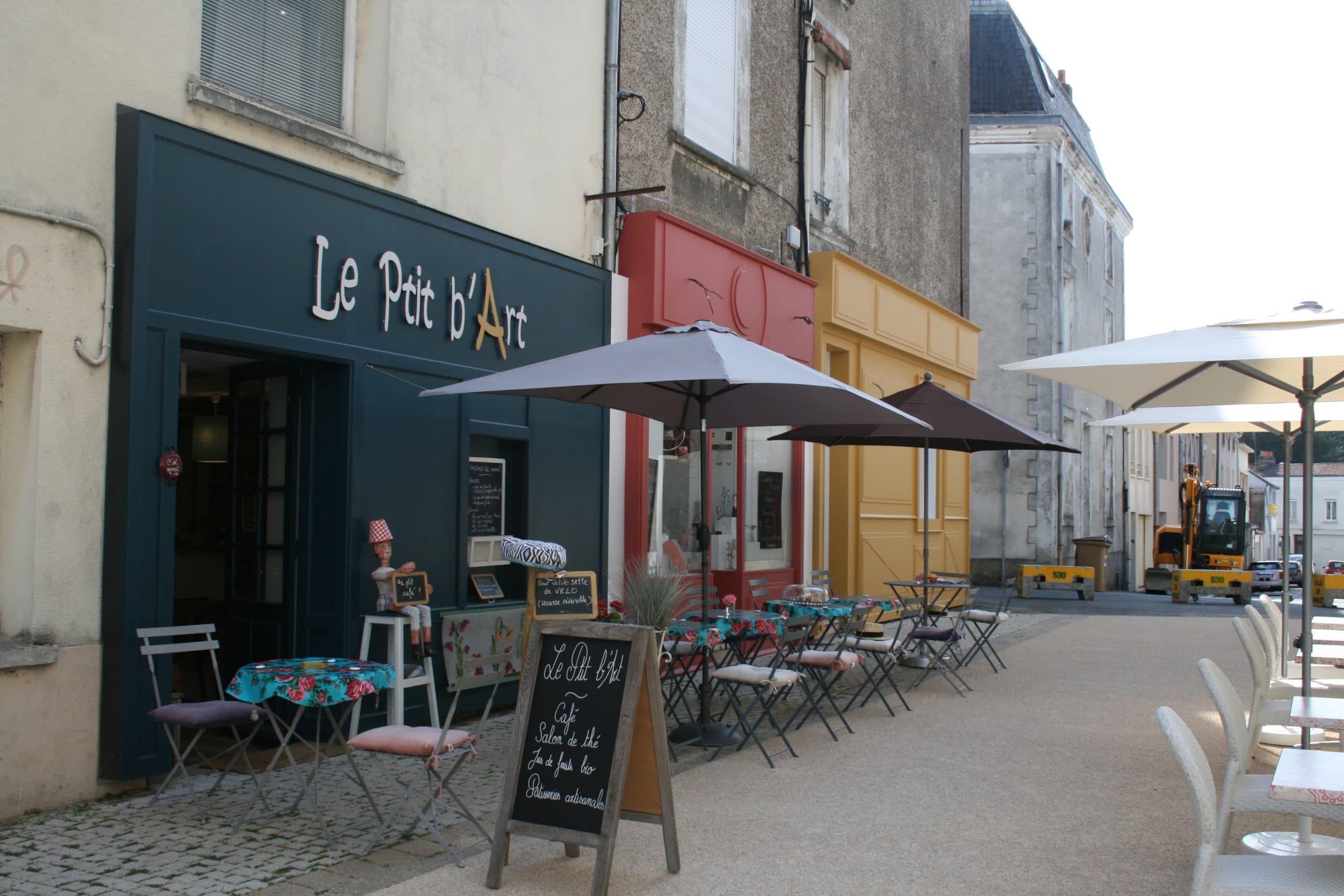 Les façades du Ptit B'Art à Cholet