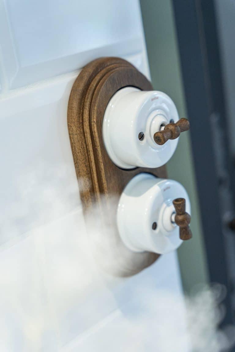 Double interrupteur céramique vintage